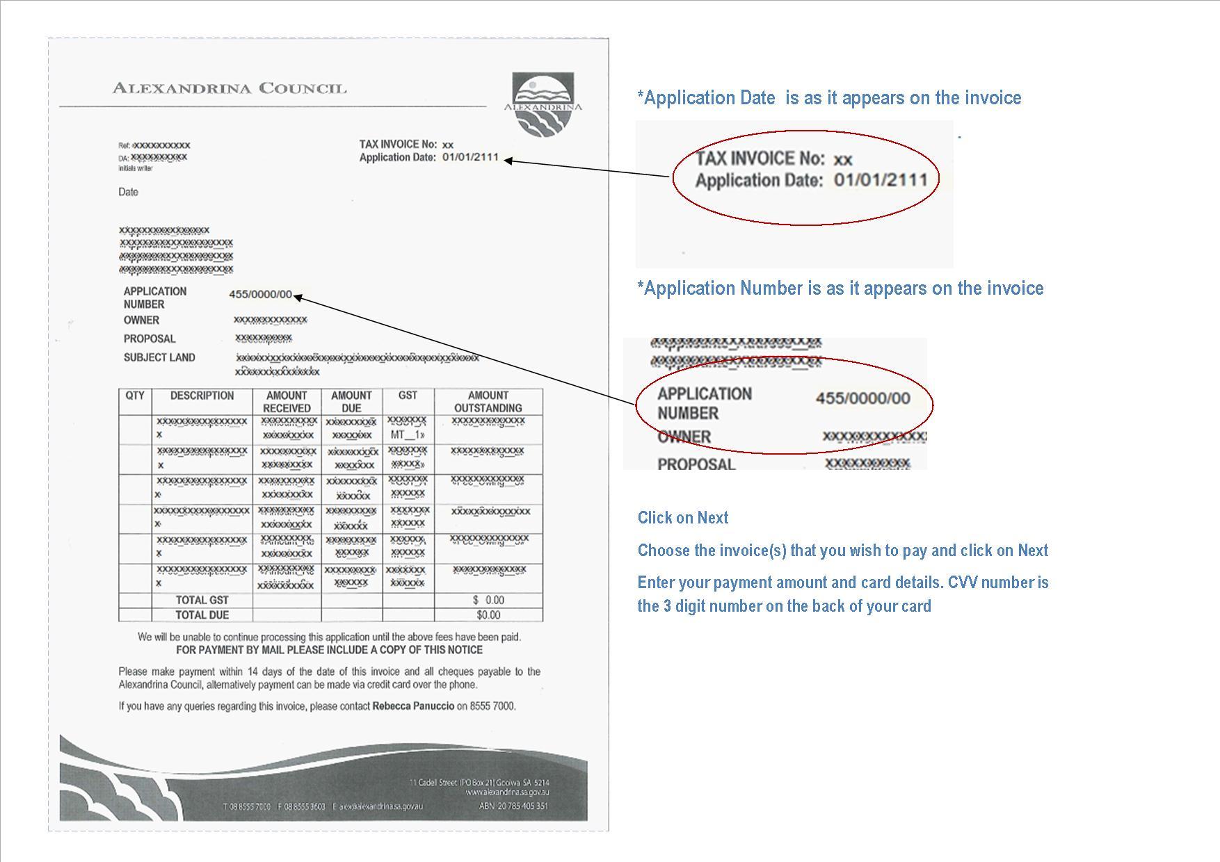 DA Invoice Example