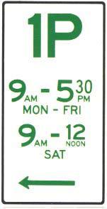 Parking sign - time limit parking