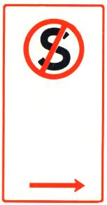 Parking sign - no stopping