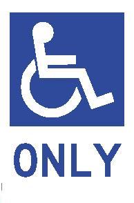 Parking sign - disabled symbol.