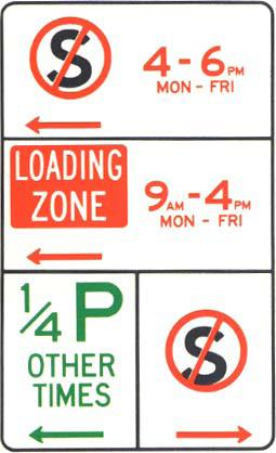 Parking sign - multiple signs